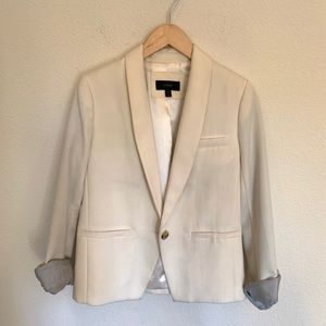 J. Crew cream single button blazer